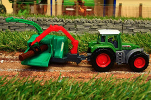1675 Siku 1:87 Scale Fendt Tractor With Wood Chipper Tractors And Machinery (1:87 Scale)