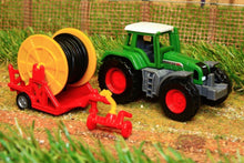 Load image into Gallery viewer, 1677 SIKU 187 SCALE FENDT TRACTOR WITH IRRIGATION REEL