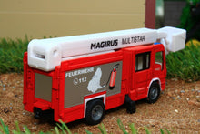 Load image into Gallery viewer, 1749 Siku 187 Scale Magirus Multistar Fire Engine With Telescopic Mast Tractors And Machinery (1:87