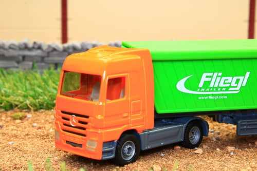 1796 SIKU 187 SCALE MERCEDES ARTICULATED LORRY WITH FLIEGL TIPPING BODY