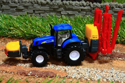 1799 SIKU 187 SCALE NEW HOLLAND TRACTOR WITH KVERNELAND CROP SPRAYER