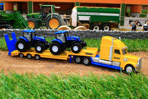 1805 SIKU 187 SCALE TRUCK WITH 2 X NEW HOLLAND TRACTORS