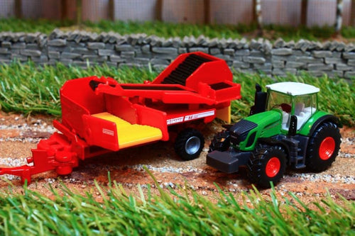 1808 SIKU 187 SCALE FENDT 939 VARIO TRACTOR WITH GRIMME POTATO HARVESTER