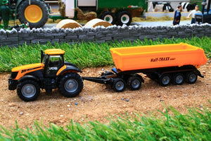 1858 Siku 187 Scale JCB Tractor with Articulated Tipping Trailer