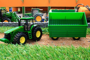 1953 SIKU 150 SCALE JOHN DEERE TRACTOR WITH 4 WHEEL TRAILER