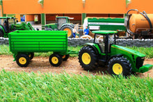 Load image into Gallery viewer, 1953 SIKU 150 SCALE JOHN DEERE TRACTOR WITH 4 WHEEL TRAILER