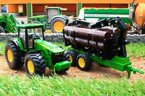 1954 SIKU 150 SCALE JOHN DEERE TRACTOR WITH FORESTRY TRAILER