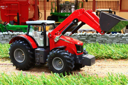 1985 Siku 150 Scale Massey Ferguson Tractor With Front Loader Tractors And Machinery (1:50 Scale)