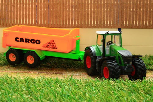 1989 Siku 150 Scale Fendt Tractor With Cargo Hook Lift Trailer Tractors And Machinery (1:50 Scale)