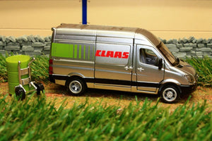 1995 Siku 1:50 Scale Mercedes-Benz Sprinter Claas Service Vehicle Tractors And Machinery (1:50