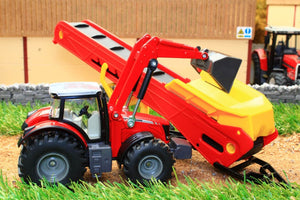 1996 Siku 150 Scale Massey Ferguson Tractor With Conveyor Tractors And Machinery (1:50 Scale)
