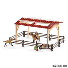 Load image into Gallery viewer, Sl42195 Schleich Stable With Horses And Accessories ** 10% Off Equestrian Department (All Scales)