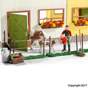 Sl42333 Schleich Large Farm With Animals And Accessories (1:24 Scale) ** 10% Off Figures (All