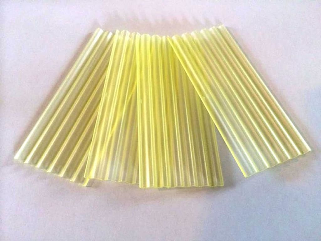 HLT-23295 Corrugated Sheet - Transparent Yellow (Pack of 50)