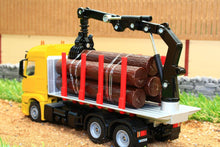 Load image into Gallery viewer, 2714 Siku 150 Scale Mercedes Lorry Log Transporter With Grab Tractors And Machinery (1:50 Scale)