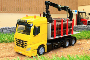 2714 SIKU 150 SCALE MERCEDES LORRY LOG TRANSPORTER WITH LOG GRAB