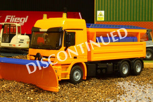 2939 Siku 150 Scale Mercedes Actros Snow Plough Truck With Salt Spreader - Discontinued Tractors And