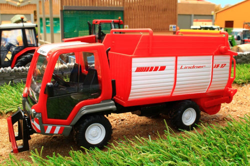 3061 SIKU LINDNER UNITRAC WITH FORAGE TRAILER