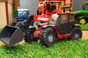 3067 Weathered Siku Manitou Mlt840 Telehandler With Bucket Weathered Models (1:32 Scale)
