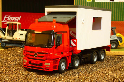 3544 Siku 150 Scale Mercedes Actros Portocabin Transporter Tractors And Machinery (1:50 Scale)