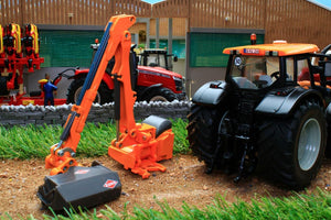 3659 Siku Valtra Tractor with Hedge Trimmer