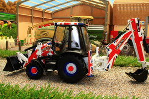 42811 Britains JCB 3CX Limited Edition in Union Jack Livery