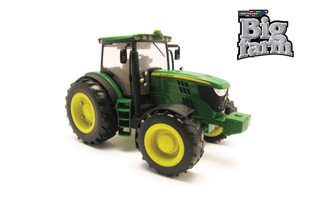 42837 BRITAINS BIG FARM JOHN DEERE 6210R TRACTOR WITH LIGHT AND SOUND