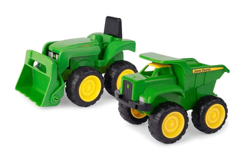 42952 BRITAINS JOHN DEERE MINI SANDPIT LOADER TRACTOR AND DUMP TRUCK SET