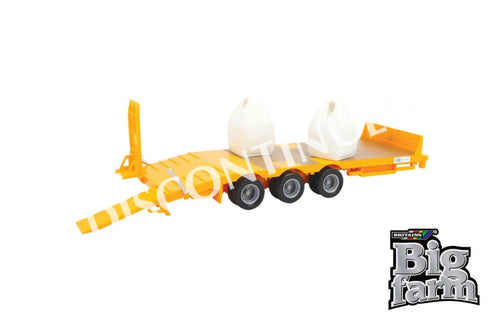 43112A1 Britains Big farm Kane Low Loader with x 2 Dumpy Bags