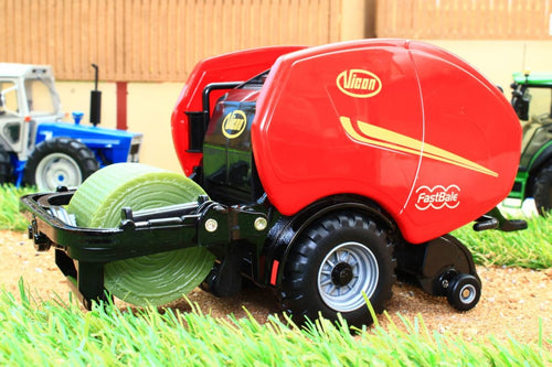 43221 BRITAINS VICON ROUND BALER AND WRAPPER
