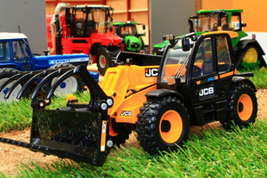 43241 BRITAINS JCB 542 70 LOADALL WITH GRAB BUCKET AND PALLET FORKS