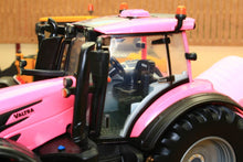 Load image into Gallery viewer, 43247 Britains Pink Valtra Tractor Play Set Including Bale Lifter And Two Round Bales Tractors And