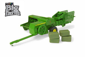 45220 BRITAINS BIG FARM JOHN DEERE BALER WITH BALES