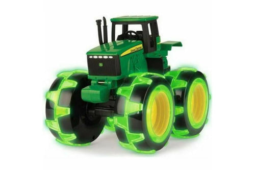 46434 BRITAINS MONSTER TREADS JOHN DEERE TRACTOR WITH LIGHT UP WHEELS