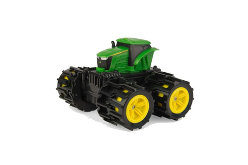 46711 BRITAINS MONSTER TREADS MINI JOHN DEERE TRACTOR WITH MEGA WHEELS
