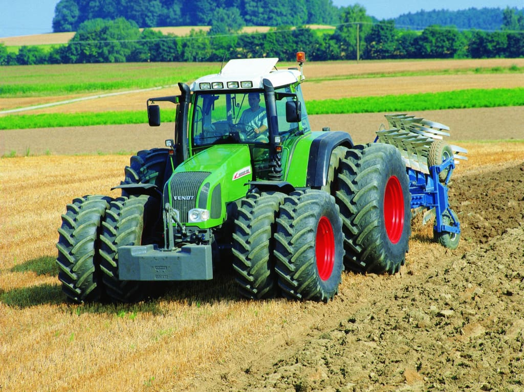 Greetings Card - Fendt Twin Wheel Tractor