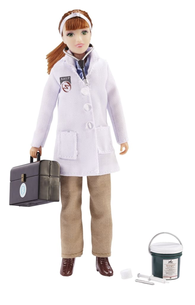 BR522 Breyer Traditional Laura - Veterinarian with Vet Kit (1:9 scale)