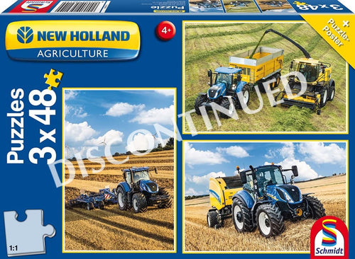 56214 Schmidt Jigsaw New Holland 3x48pc Set