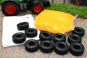 5698 SIKU SILO - CLAMP COVER WITH BULK BAG OF YELLOW PELLETS AND RUBBER TYRES