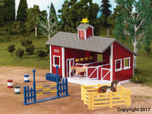 Load image into Gallery viewer, Br59197 Breyer Stablemates Red Stable Set (1:32 Scale) ** 10% Off Equestrian Department (All Scales)