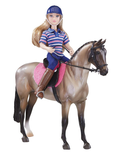 BR61114 Breyer English Horse and Rider (1:12 scale)