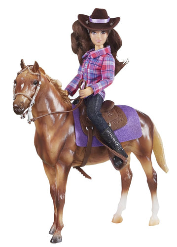 BR61116 Breyer Western Horse and Rider (1:12 scale)