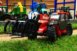 8613 Siku Manitou Telehandler With Attachments Tractors And Machinery (1:32 Scale)