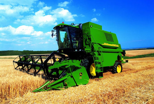 Greetings Card - John Deere Combine