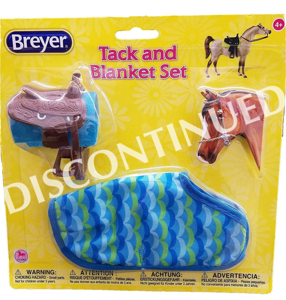 BR61130 Breyer Classic  - American Tack & Blanket 2 Piece Assortment (1:12 scale)