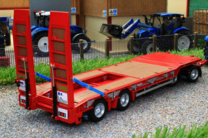 AT3200139 AT COLLECTIONS NOOTEBOOM ASDV-40-22 4 AXLE DRAWBAR LOW LOADER TRAILER WITH RAMPS