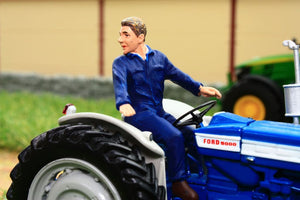 AT32114 AT COLLECTIONS TIM FIGURE DRIVING TRACTOR LOOKING BACK