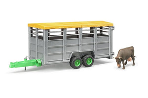 B02227 Bruder Livestock Trailer with Cow