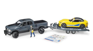 B02504 BRUDER RAM 2500 WAGON, ROADSTER AND FIGURE