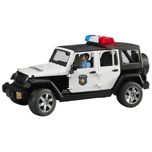 B02526 BRUDER JEEP WRANGLER WITH POLICEMAN